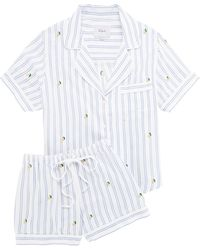 Rails Darcie Striped Pyjama Short Set - White