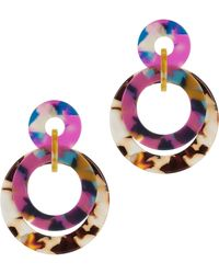 Lele Sadoughi - Banded Hoop Earrings - Lyst