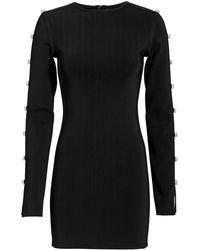 David Koma - Crystal-embellished Slit Sleeve Mini Dress - Lyst