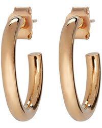 Meadowlark Medium Taboo Tube Hoop Earrings - Metallic