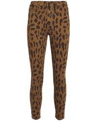 L'Agence Margot Spotted Skinny Jeans Camel/spots 26 - Multicolour