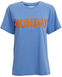 Alberta Ferretti - Monday Blue T-shirt - Lyst