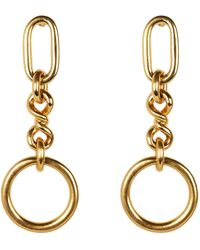 Ben-Amun Valeria Chain Drop Earrings - Metallic