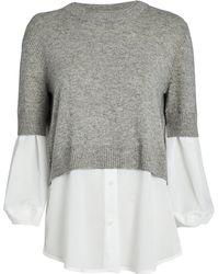 Brochu Walker Ebella Layered Crewneck Sweater - Gray
