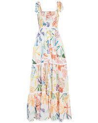 Charo Ruiz Artemisa Tiered Poplin Maxi Dress - Multicolour