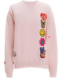 MadeWorn - Faded Pink Patch Sweatshirt - Lyst