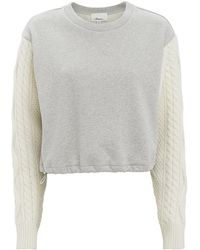3.1 Phillip Lim - Cable Sleeve Sweatshirt - Lyst