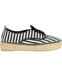 Loeffler Randall | Alfie Espadrille Striped Platform Sneakers | Lyst