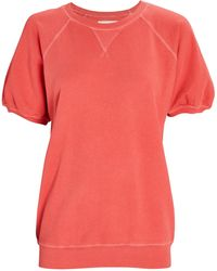The Great The Puff Sleeve Sweatshirt - Red