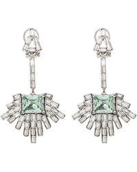Lulu Frost Astra Crystal Drop Earrings Crystal/blue 1size