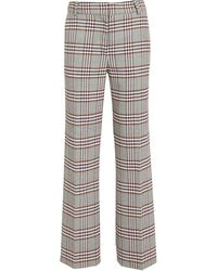 10 Crosby Derek Lam Plaid Kick Flare Pants - Multicolor