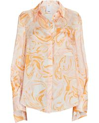 Acler Coleman Marble Satin Blouse - Multicolour