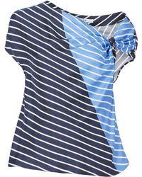 Tibi - Delphina Asymmetrical Tie Top - Lyst