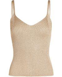 Intermix Vaughn Sleeveless Knit Top - Natural