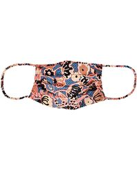 A.L.C. Printed Cotton Face Mask - Blue