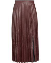 Intermix Zuri Pleated Vegan Leather Skirt - Multicolor