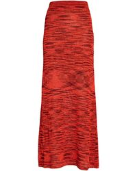 Alexis Monse Space Dyed Knit Maxi Skirt - Red