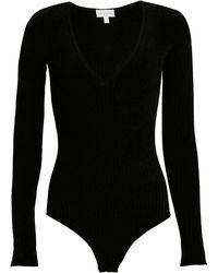 Ronny Kobo Talma Chenille Knit Bodysuit - Black