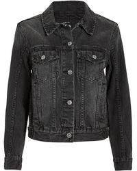 Ksubi - Classic Black Jean Jacket - Lyst