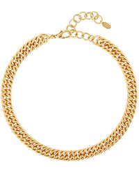 Elizabeth Cole Adia Fishtail Chain-link Necklace - Metallic