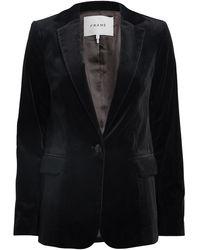 FRAME Classic Velvet Blazer - Black