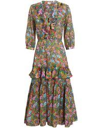 Warm - Sierra Floral Midi Dress - Lyst