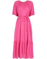 Apiece Apart - Simone Tiered Cotton Midi Dress - Lyst