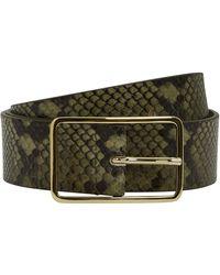 B-Low The Belt - Milla Python Belt Olive/snakeskin S - Lyst