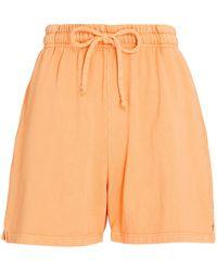 Year Of Ours Boyfriend Cotton Sweat Shorts - Orange