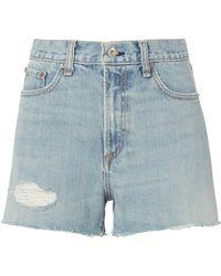 Rag & Bone - Justine Cutoff Shorts - Lyst