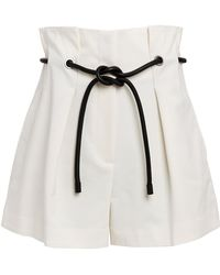 3.1 Phillip Lim Origami Pleated Paperbag Shorts - White