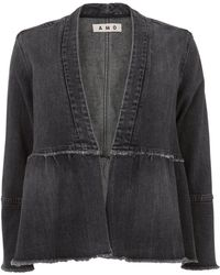 AMO - Flounced Denim Jacket - Lyst