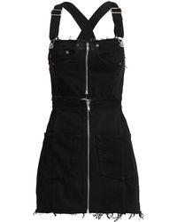 RE/DONE Overall Black Denim Dress