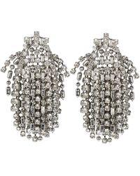 DANNIJO Kane Crystal Fringe Earrings - Metallic
