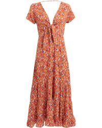 Auguste Agnes Fleur Midi Dress - Orange