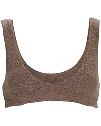 DONNI. Sweater Knit Bralette - Brown