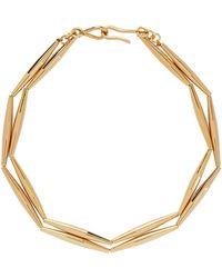 Tohum Helia Geometric Tube Necklace - Metallic