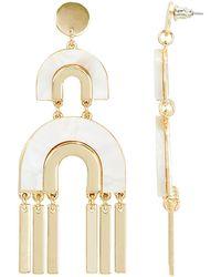 Noir Jewelry - Mop Drop Earrings - Lyst