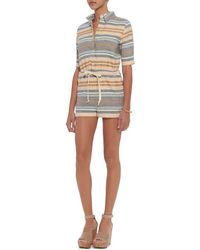 Solid & Striped - Chambray Stripe Romper - Lyst