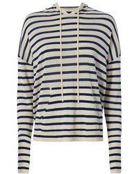 Nili Lotan - Hooded Stripe Sweater - Lyst