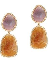 Susan Hanover - Sapphire Splice Earrings - Lyst
