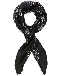 Manipuri - Bandana Print Silk Scarf: Navy - Lyst
