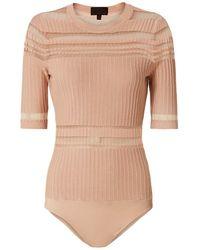 Exclusive For Intermix - Willa Striped Bodysuit: Blush - Lyst