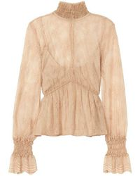 Exclusive For Intermix - Genevieve Lace Top - Lyst