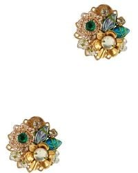 Mercedes Salazar Exclusive Fiesta Button Embellished Earrings - Multicolour