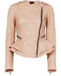 Marissa Webb Shane Leather Jacket - Multicolour