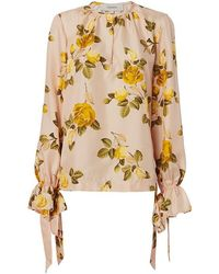 Lover - Albertine Floral Blouse - Lyst