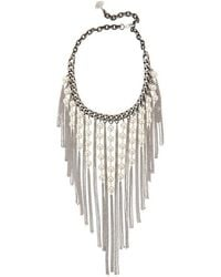 Laura Cantu - Pearl Fringe Necklace - Lyst