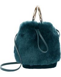 Maison Boinet - Teal Mini Bucket Crossbody Bag - Lyst
