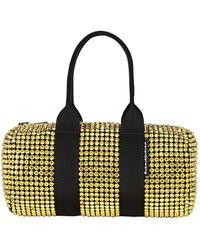 Alexander Wang Mini Cruiser Crystal-embellished Duffle Bag - Yellow
